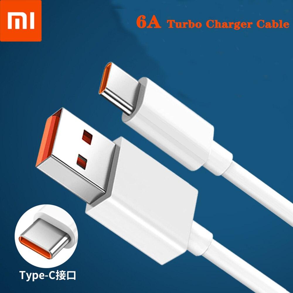 Original Xiaomi 6A Usb tipo C Cable de cargador de Turbo rápido...