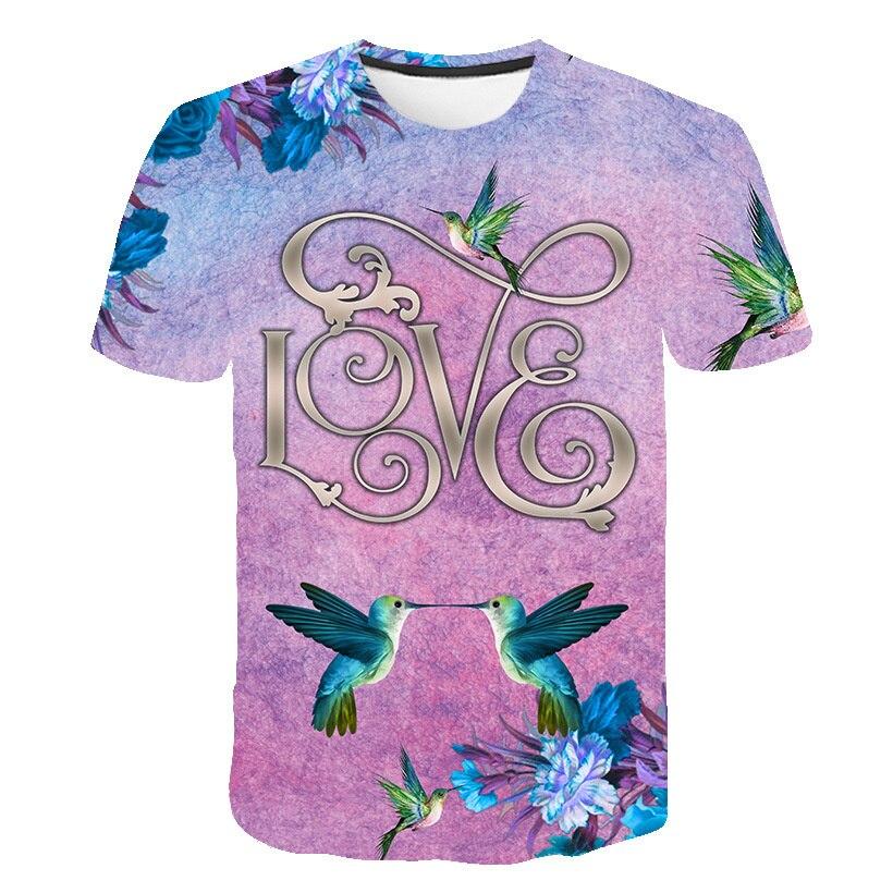 Camiseta de verano de pájaros para niños ropa de poni de dibujos...