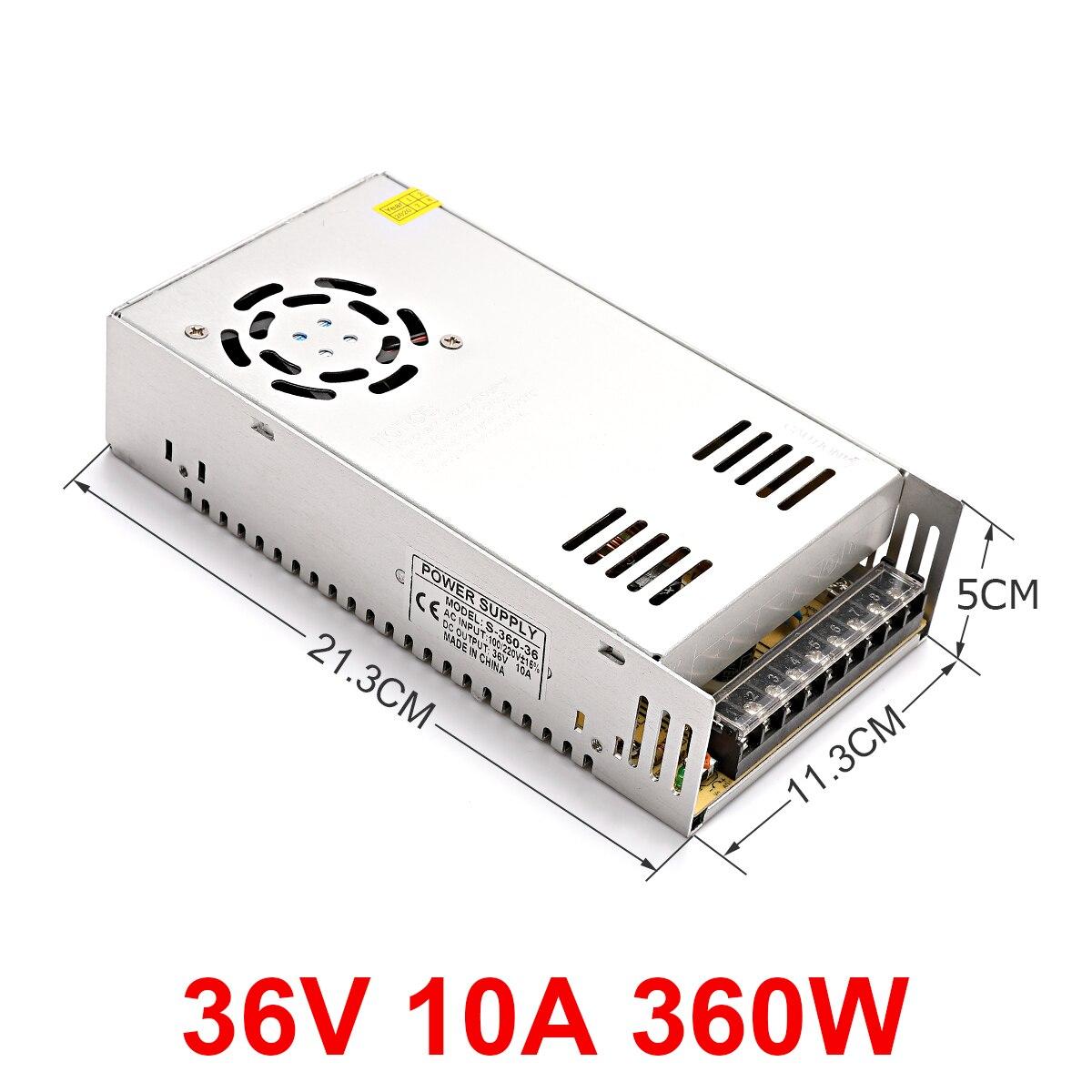 تحويل التيار الكهربائي مصباح محول 36 فولت 10A 360 واط LED قطاع مغلق الدائرة التلفزيون محول