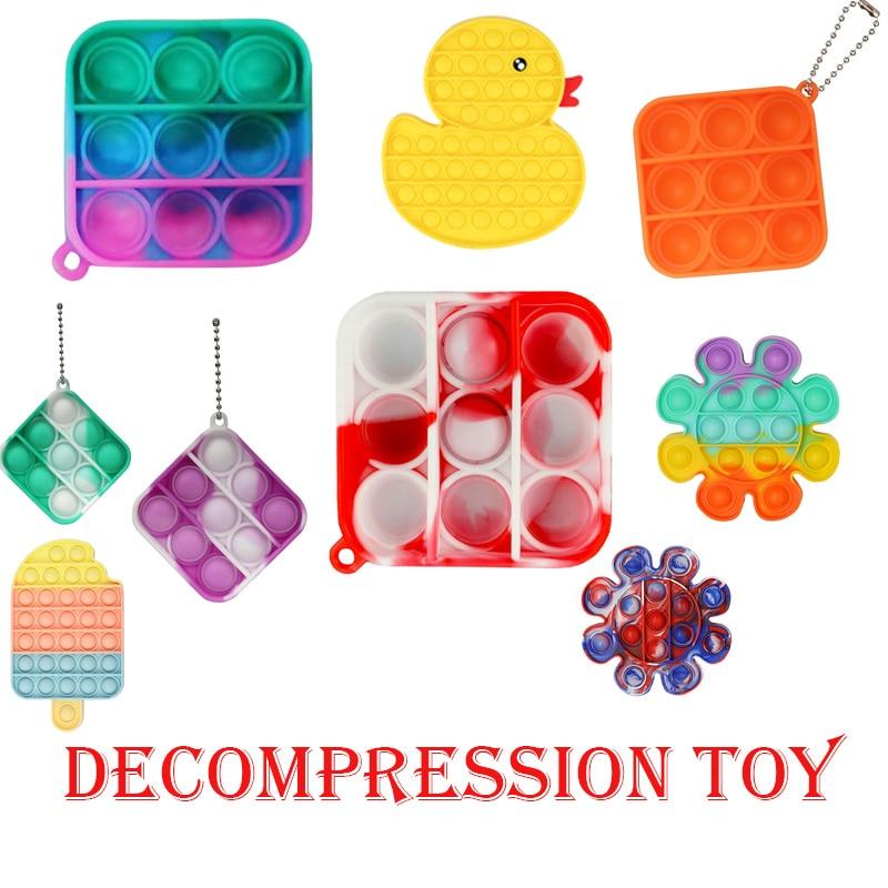 1PC Push Bubble Fidget Sensory Toy Autism Special Needs Stress Reliever Increase Focus Soft Anti-str