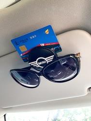 Suporte de óculos de carro universal, conta de carro, carteira de motorista, suporte de cartão de visita, quadro de óculos de carro para bmw mini cooper f60