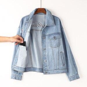 Женские джинсовые куртки camarras De Mezclilla Para Mujer, джинсовый топ Spijkerjas 2020, свободная одежда Cazadora Vaquera на весну и осень