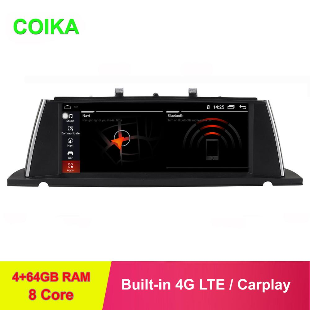 "COIKA 10,25 ""IPS 8 Core Android 9,0 Auto estéreo para BMW F07 GT 11-16 GPS Navi pantalla BT 4 + 64GB de RAM WIFI 4G LTE Carplay SWC"