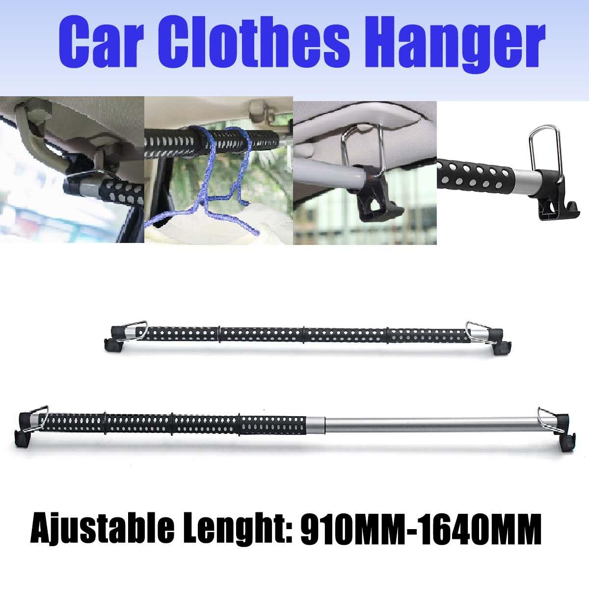 Percha de coche longitud ajustable Universal extendida Auto percha de ropa para coche Barra para ropa Bar Perchero de ropa