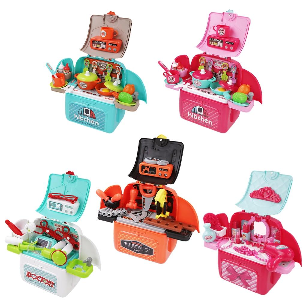 Фото - Pretend Play Backpack Role Play Educational Toy Children Playset for Boys Girls Age 4+ fun boys girls mini telephone developmental toy role play pretend toy communication equipment