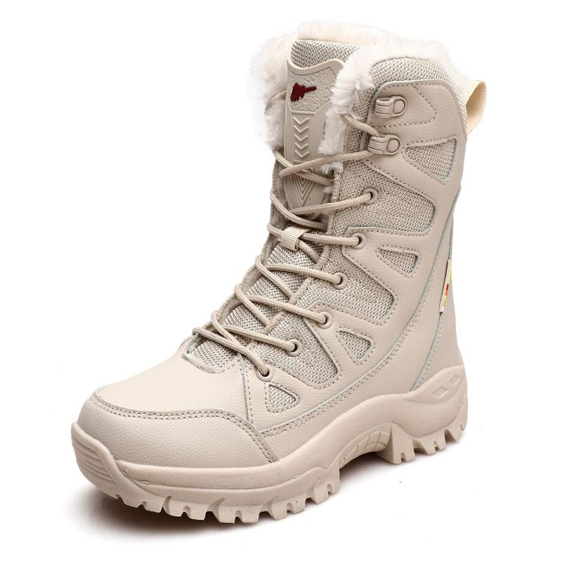 Женские зимние сапоги Sisuoco, 2020, высокое качество, искусственный мех, плюшевые, теплые, повседневные, до середины икры, Походные сапоги, женская обувь