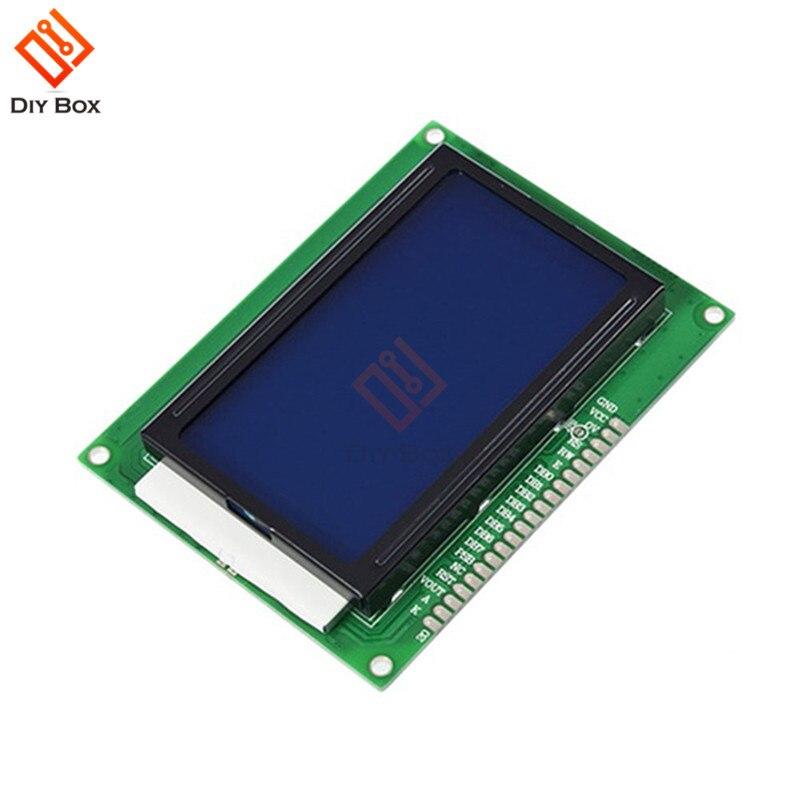 Novo 12864 128x64 pontos gráfico display lcd painel módulo azul backlight