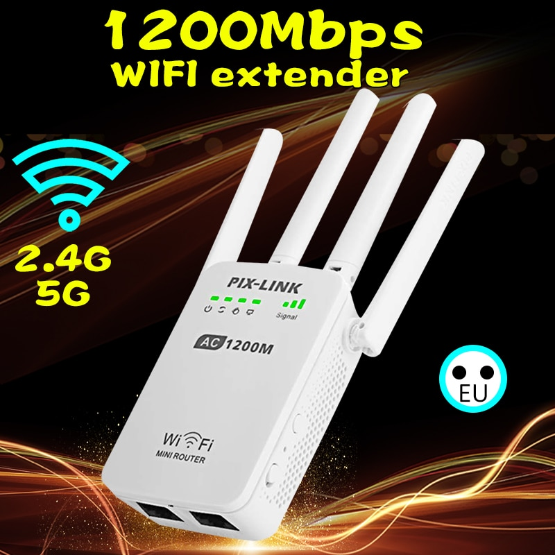 wireless wi-fi 802.11n 1200mbps 2.4g firewall router repeater extender repetidor booster for xiaomi wi fi wifi versterker