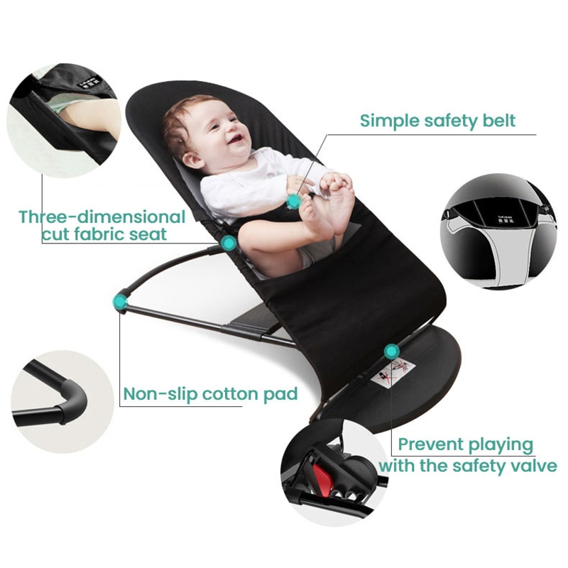 Infant Shining Baby Swing Rocking Chair Coax Baby Artifact Educational Baby Cradle Crib Newborn Baby Recliner Baby Bouncer enlarge