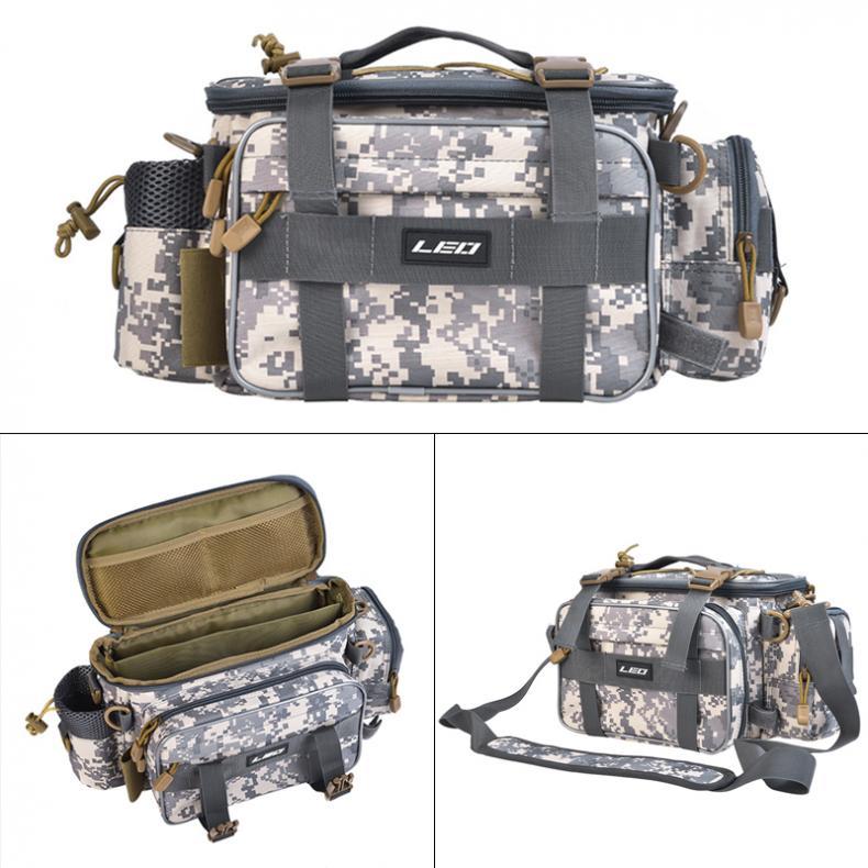 40 x 17 x 20cm Fishing Bag Multifunctional Waterproof Outdoor Waist Shoulder Bag Case Fishing Reel Lure Camera Storage Bag