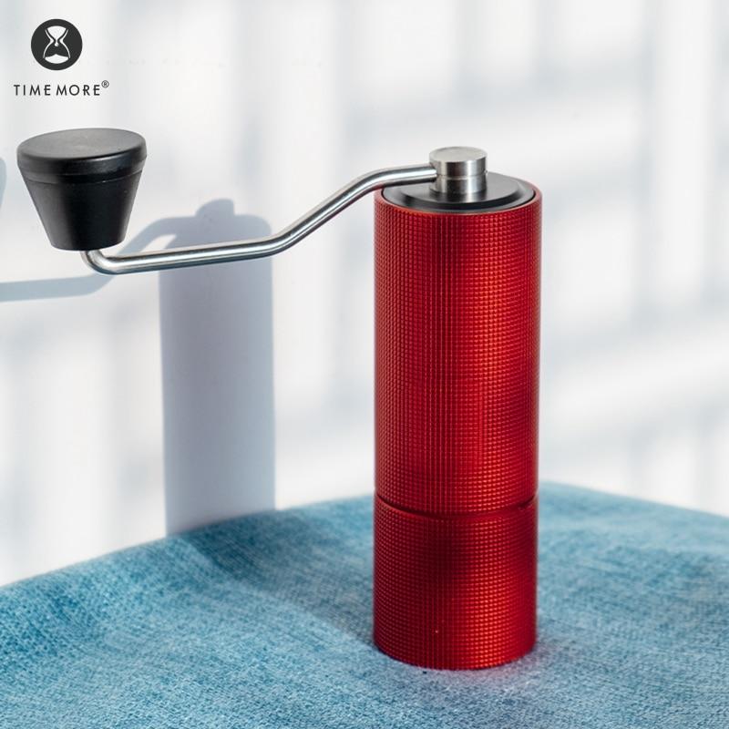 TIMEMORE دليل طاحونة الكستناء C2 حتى اليد قابل للتعديل القهوة لدغ الصلب الأساسية إرسال فرشاة التنظيف