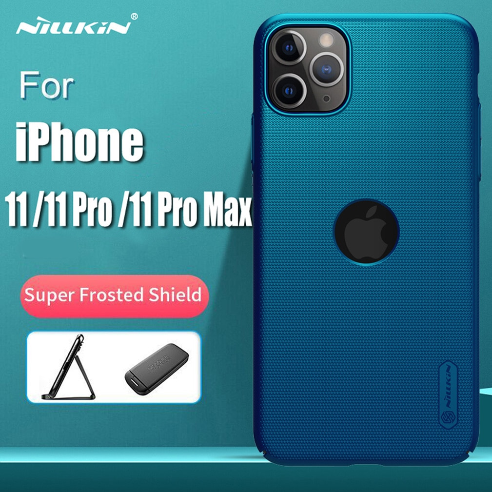 Capa para iphone 11 pro max nillkin fosco escudo pc capa dura de volta para iphone 11 pro protetor caso para iphone 11 capa