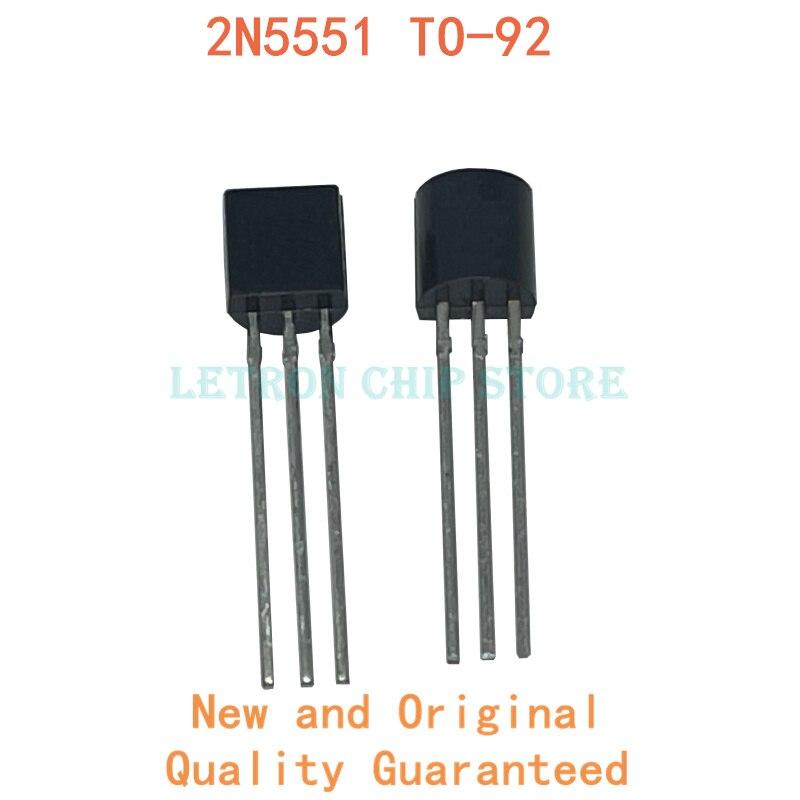 100 pces 2n5551 to-92 5551 to92 transistor novo e original chipset ic