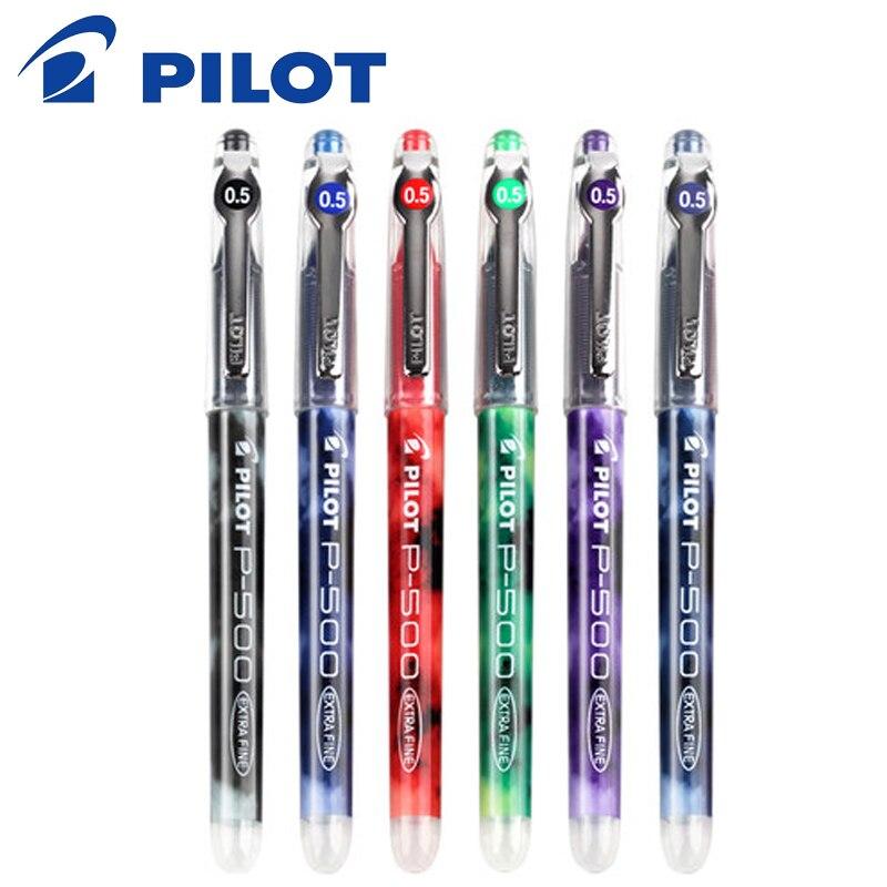 12 шт. набор ручек пилота точные P-500 гелевые чернила шариковые ручки 0,5 мм роликовые Экстра точные точки черные цветные чернила
