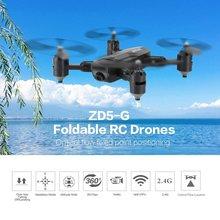 ZD5-G GPS 1080P Dron plegable con doble cámara gesto foto Control remoto máquina de juguete modo sin cabeza posicionamiento de flujo óptico