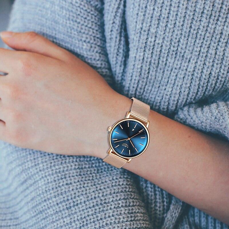 LIGE Women Watches Luxury Wrist watch relogio feminino Clock for Women Milanese Steel Lady Rose Gold Quartz Ladies Watch New+Box enlarge