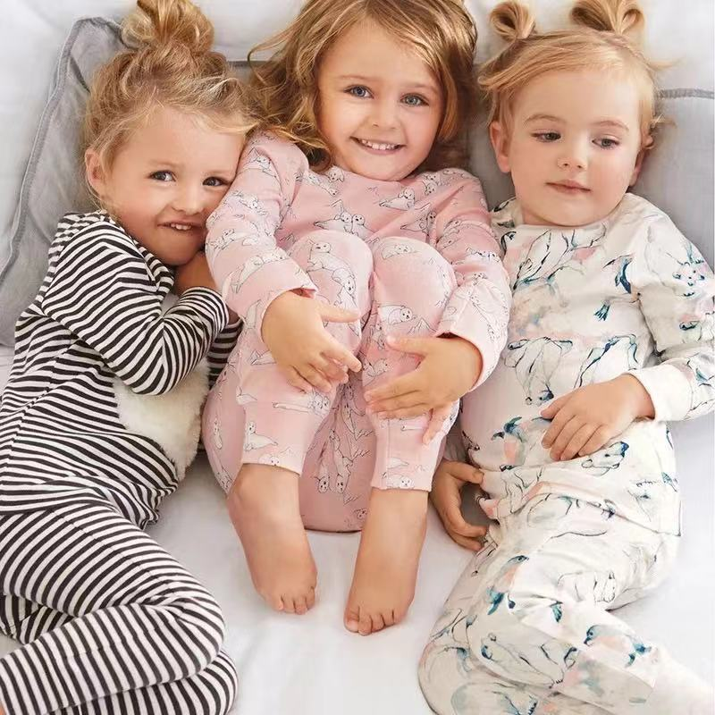 Pijamas de niñas conjunto de dibujos animados de invierno conjunto de ropa para bebé Conjuntos Niña otoño ropa de bebé niña pijamas conjunto ropa de dormir para niños