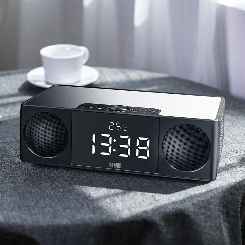 Altavoz Bluetooth, pantalla de 4,3 pulgadas, 25W, portátil, Radio FM, despertador, estéreo, HiFi, altavoz inalámbrico, bajo, Subwoofer, caja de sonido