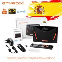 Récepteur satellite Gtmedia V8 UHD 4K DVB S2 intégré wifi support DVB-S/S2/S2X + T/T2/câble/ATSC-C/ISDBT meilleur V8 POR2 Gtmedia V8