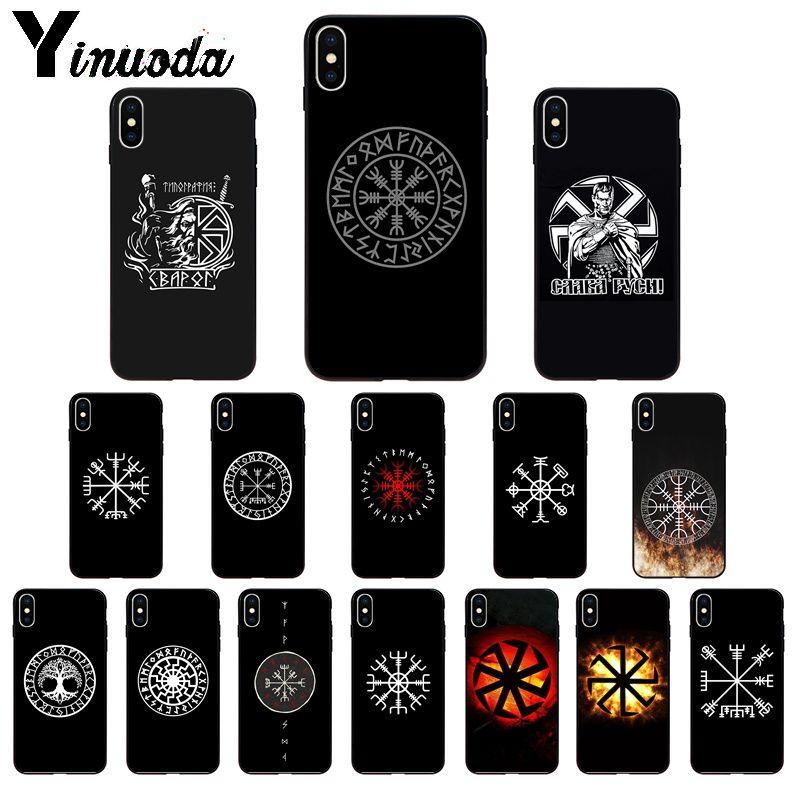 Yinuoda Slavic Viking symbol Kolovrat TPU Soft Phone Case Cover for iPhone 8 7 6 6S Plus X XS MAX 5 5S SE XR 11 11pro max Cover