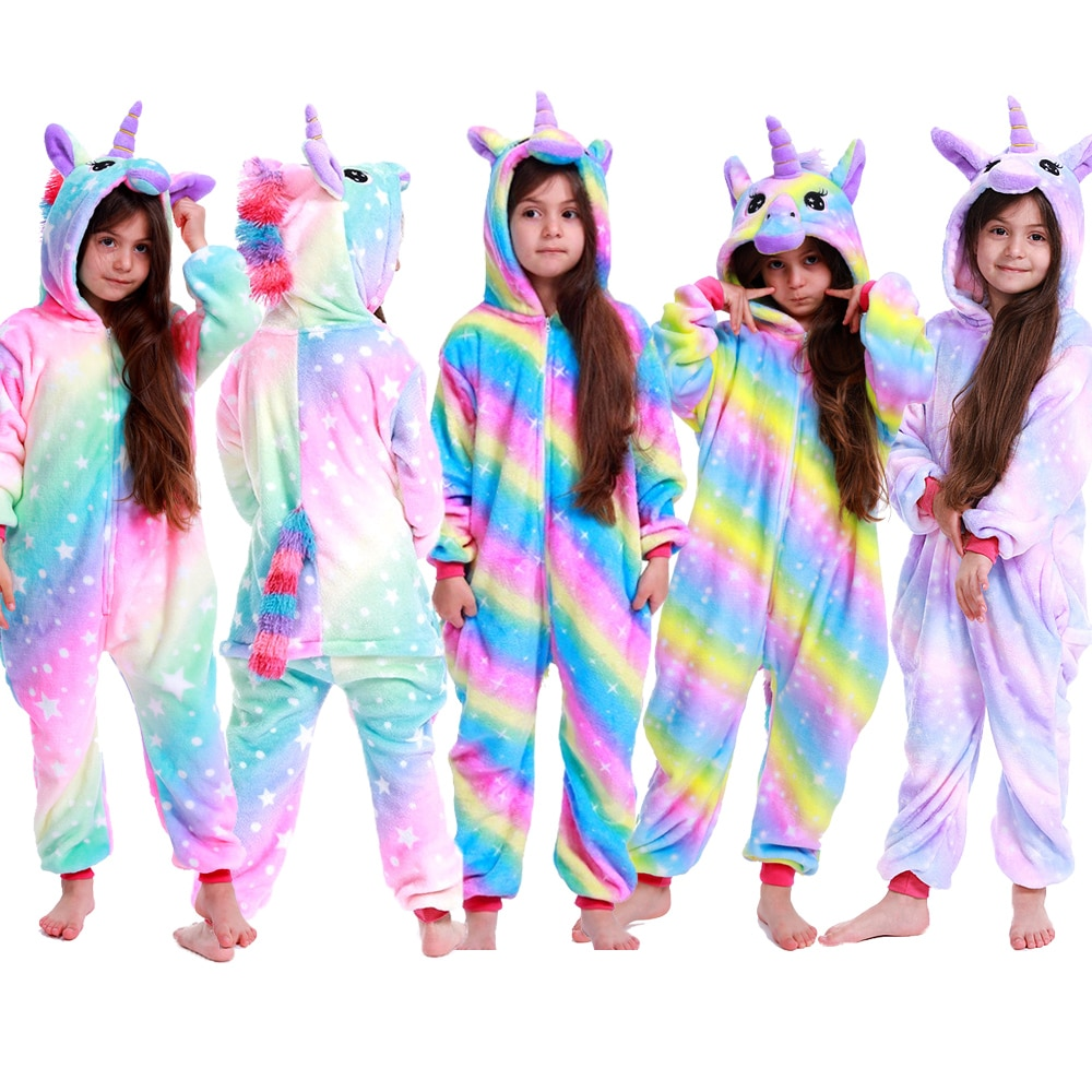 Unicorn Pajamas For Children Animal Cartoon Blanket Sleepers Baby Costume Winter 2020 new Boy Girl Licorne Onesie