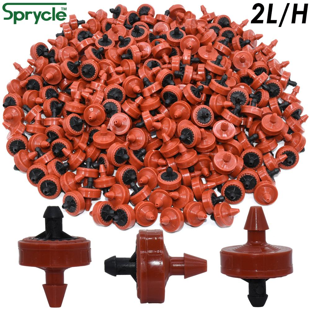 SPRYCLE 20PCS 2L 4L 8L Pressure Compensating Emitter Dripper Self-cleaning Drip Irrigation Water Regulator 4/7 Pipe Hose Puncher