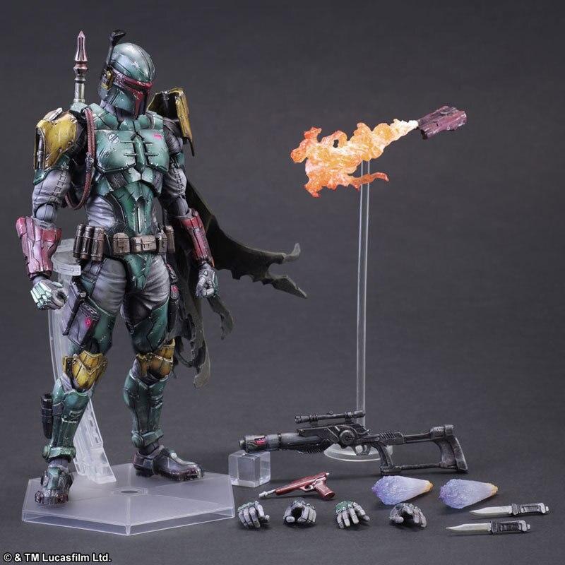 Play Arts Star Wars Boba Fett Film Karakter Action Figure Model Speelgoed 27 Cm