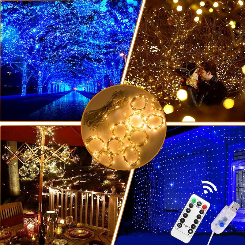 julelys butterfly fairy lights garland battery led string light gerlyanda christmas lights decorations for wedding bedroom Christmas LED Fairy Lights USB LED Curtain String Light Garland Festoon Remote Control New Year Christmas Decorations for Home