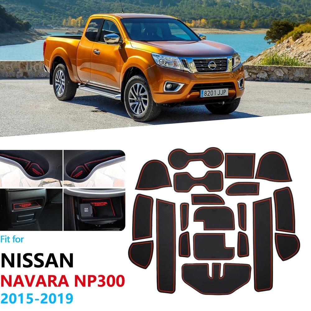 Противоскользящий резиновый коврик для ворот для Nissan Navara NP300 D23 2015 2016 2017 2018 2019 аксессуары Автомобильные наклейки NP 300