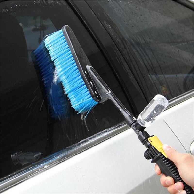 Utensilios cepillo de limpieza para coche, cepillo de lavado de coches, retráctil, de mango largo, Detector de flujo de agua, espuma, limpieza de botellas