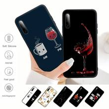 Coffee Wine Cup Phone Case For Redmi Note 6 8 9 10 Pro 10 9s 8t 7 5A 5 4 4x Silicone Cover