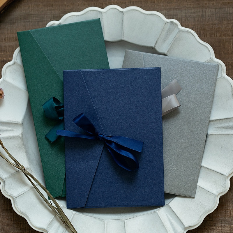 50pcs/set Vintage Ribbon Kraft Blank Paper Envelopes Wedding Invitation Envelope /Gift Envelope/12 Colors Drop Shipping