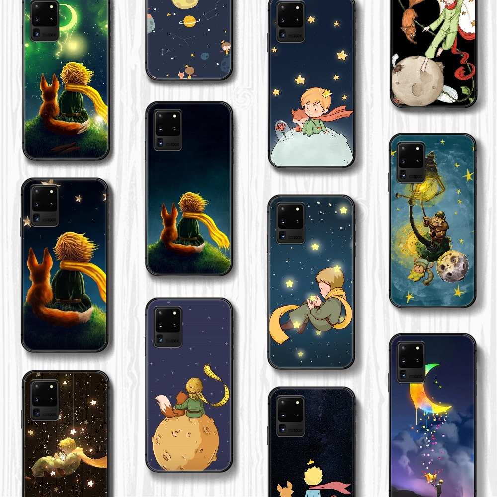 Cartoon The Little Prince and Phone Case Cover Hull For Samsung Galaxy S 6 7 8 9 10 e 20 edge uitra Note 8 9 10 plus black