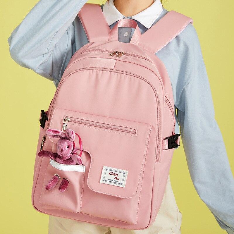 Новый японский и корейский милый женский рюкзак Водонепроницаемый рюкзак для девочек-подростков школьная сумка милый студенческий рюкзак ...