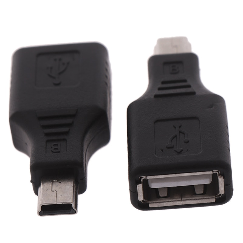 Mini USB Male to USB Female Converter Connector Transfer data Sync OTG Adapter for Car AUX MP3 MP4 Tablets Phones U-Disk