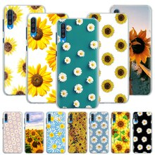 Cute Summer Daisy Sunflower Floral Flower Case for Samsung Galaxy A50 A70 A51 A71 5G A10 A10e A20 A30 A40 A11 A31 A21 A91 Hard C