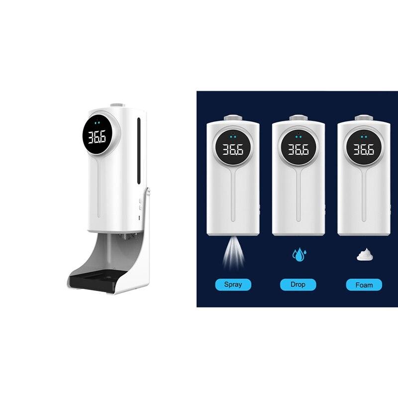 1200 مللي K9 برو المزدوج درجة الحرارة قياس عدم الاتصال الرقمية الأشعة تحت الحمراء ميزان الحرارة اليد غسل موزع الصابون آلة