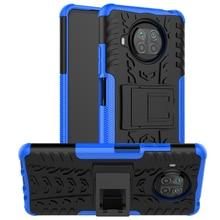 Voor Xiaomi Mi 10T Lite Case Antiklopmiddelen Bumper Heavy Duty Armor Stand Back Cover Mi 10 T lite 5G Siliconen Telefoon Case Mi 10T Lite