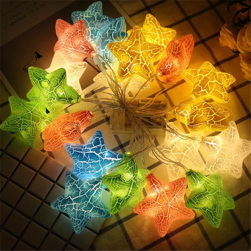 10/20/40 светодиодные лампочки звездочки, гирлянда USB Батарея работает праздник для рождественской вечеринки свадьбы для домашнего украшения ...