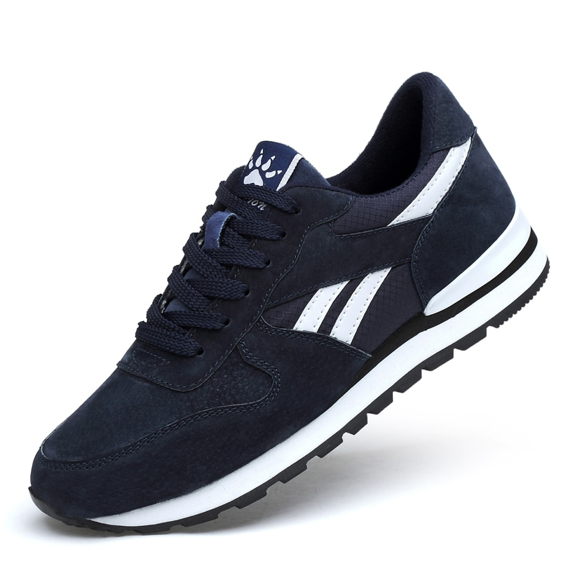 Breathable Running Shoes for Men Outdoor Sport Running Shoes Women Genuine Leather Sneakers Light Ca
