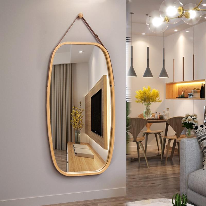 الشمال فندق مرآة حمام الحائط مرآة تزين مرآة مستديرة الزخرفية الحائط كامل طول مرآة WF