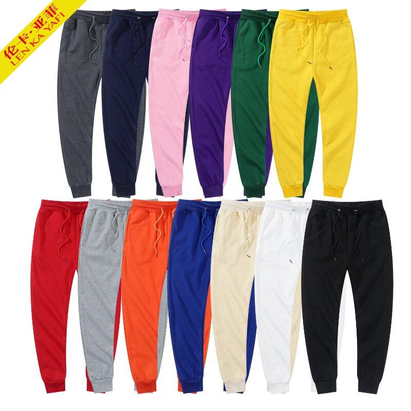 Брендовые мужские брюки, мужские брюки, джоггеры, спортивные брюки, зимние повседневные брюки, белые, черные, женские, красные флисовые брюк...