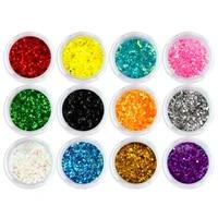12 colors nail flash powder laser diamond nail arts paint coating art tools shiny metal pigment glitter powder flash shining set