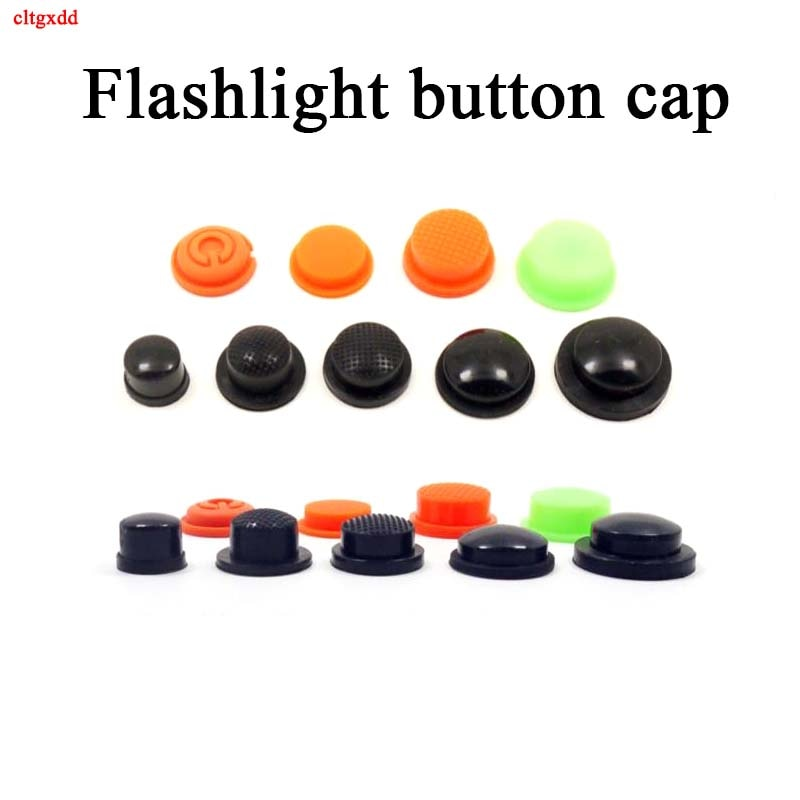 Botón trasero 2 uds., botón de goma resistente al agua, botón de carga led, accesorios para interruptor de linterna, sello de cubierta de goma