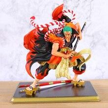 One Piece Kabuki Roronoa Zoro PVC Figure 1/4 Scale Model Anime Figurine Toy Statue
