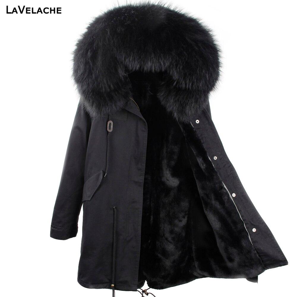 معطف الشتاء الرجال 2021 سترة الشتاء طويلة انفصال بطانة الأسود سترات مقاوم للماء كبير ريال الراكون الفراء مقنعين ملابس خارجية