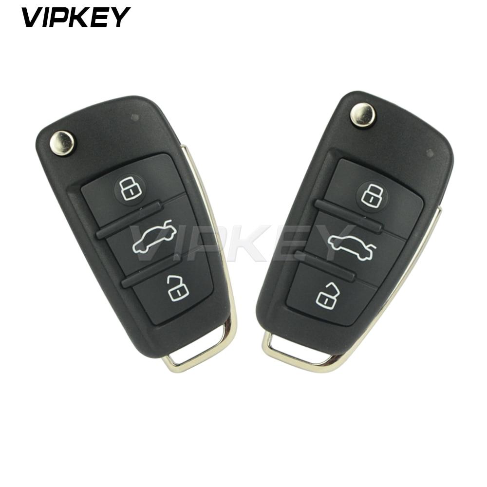 Remotekey 2pcs 8P0837220D 3 button 433 mhz ID48 chip HU66 blade 8P0 837 220 D for Audi A3 TT 2006 - 2013 Flip remote key