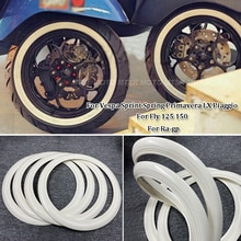 "Vespa Wit Retro Rubber Tyre Wheel Hub Bescherming Stickers Ringen 12 ""Voor Piaggio Vespa Gts Gtv Sprint Primavera 150 scooters"