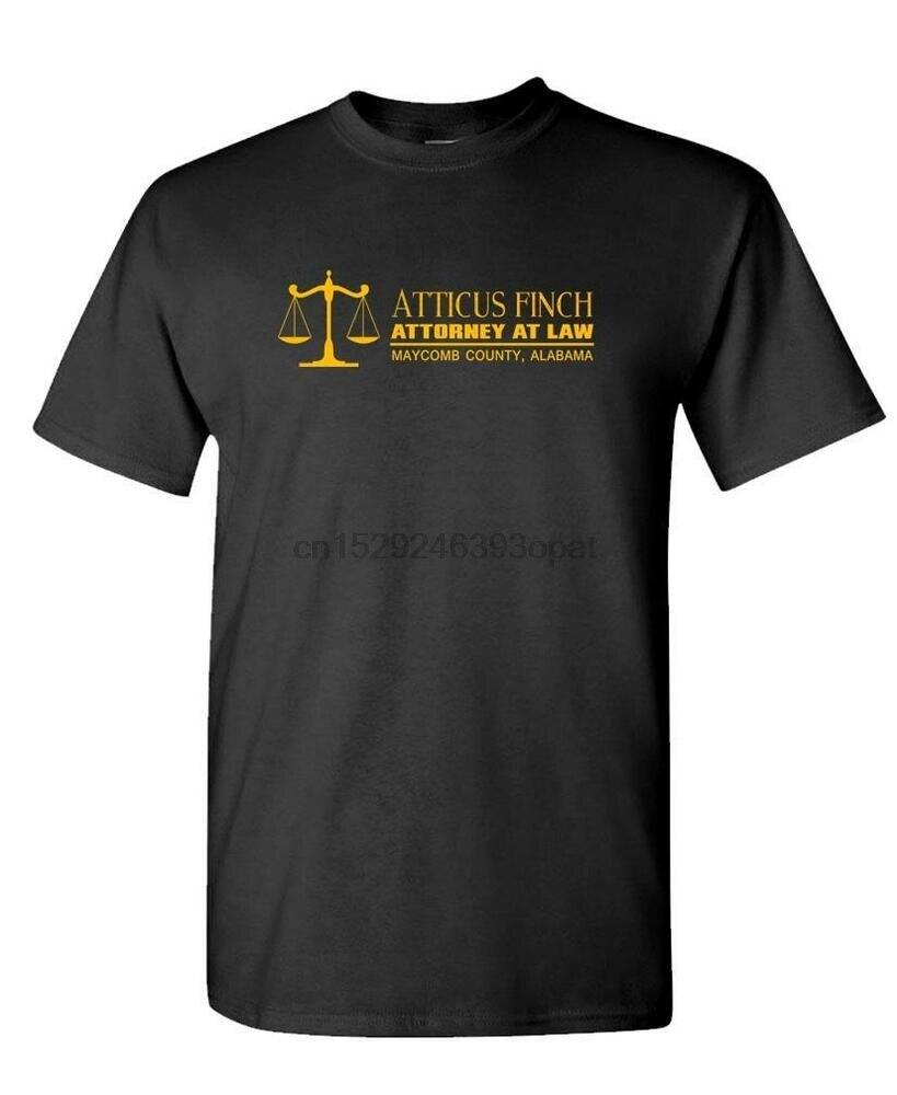 Camiseta Unisex de algodón ATTICUS Pinzón abogado en la ley-mockingbird