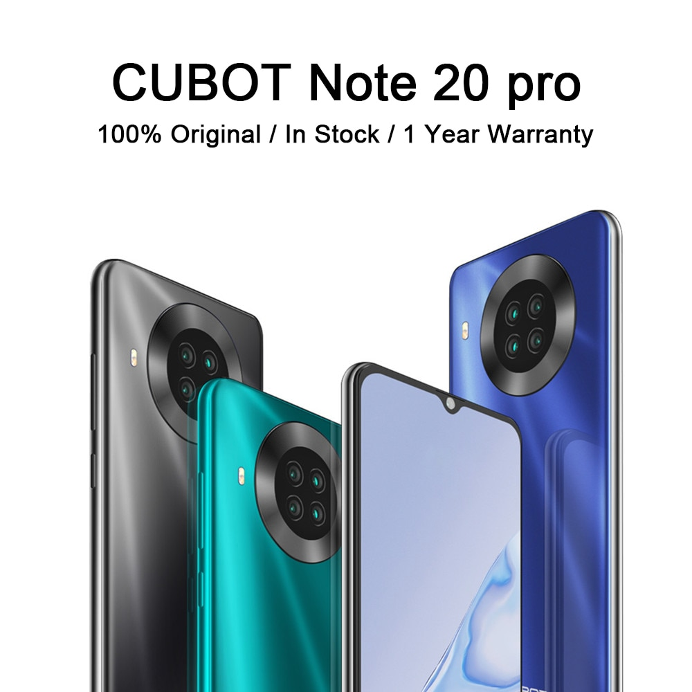 8+128GB CUBOT Note 20 Pro Smart Moblie Phone 6.5″ Helio P60 12MP Rear Quad Camera 4200mAh Smartphones NFC Android 10 Dual SIM